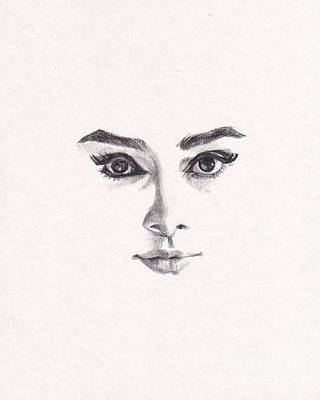 Audrey Hepburn Drawing - Audrey by Lee Ann Shepard