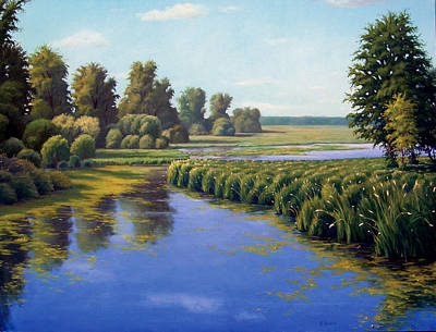 Eastern Europe Painting - August Days by Rick Hansen