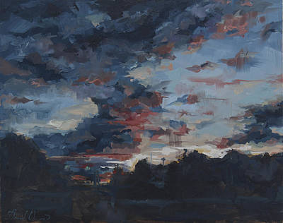 Summer Thunderstorm Painting - August Sky by David Owens