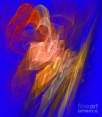 Aurora Blue Print by Jeanne Liander