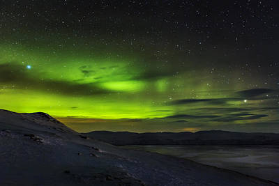 Aurora Borealis Or Northern Lights Seen Print by Panoramic Images