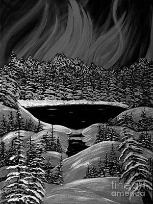 Aurora In Black And White Print by Barbara Griffin