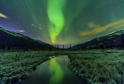 Aurora Valley Print by Kyle Lavey