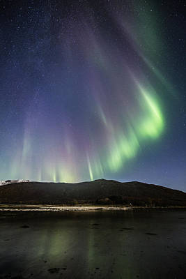 Norway Photograph - Auroras And Stars by Frank Olsen