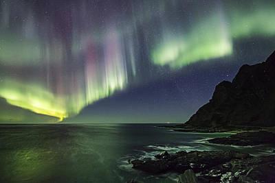 Aurora Photograph - Auroras Painting by Frank Olsen