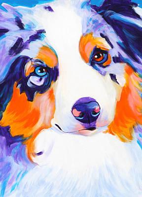 Pet Painting - Aussie - Merlee by Alicia VanNoy Call