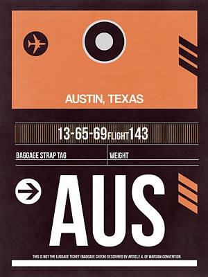 Austin Mixed Media - Austin Airport Poster 2 by Naxart Studio