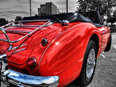 Car Photograph - Austin Healey 3000 001 by Lance Vaughn