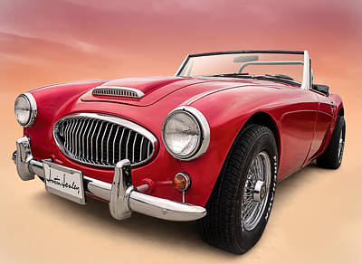 Auto Digital Art - Austin Healey by Douglas Pittman
