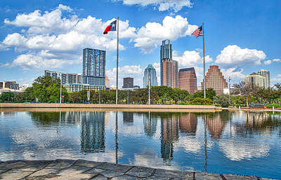 Austin Photograph - Austin Skyline Across The Water by Tod and Cynthia Grubbs