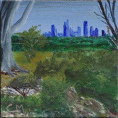 Austin Skyline Painting - Austin Skyline From Zilker Botanical Gardens by Charles F Miller