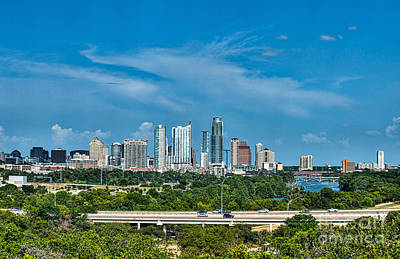 Austin Skyline Photograph - Austin Skyline  by Tod and Cynthia Grubbs