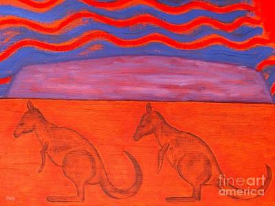 Kangaroo Painting - Australia by Patrick J Murphy