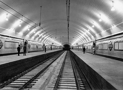 Interior Scene Photograph - Australia Subway Station by Underwood Archives