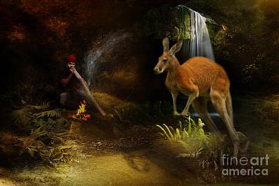 Kangaroo Mixed Media - Australian Dreaming by Trudi Simmonds