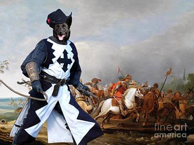Kelpie Painting - Australian Kelpie Canvas Print - A Cavalry Engagement During The Thirty Years War by Sandra Sij