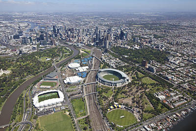 Photograph - Australian Open Tennis Venues by Brett Price