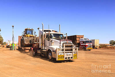 Australian Outback Truck Stop Print by Colin and Linda McKie