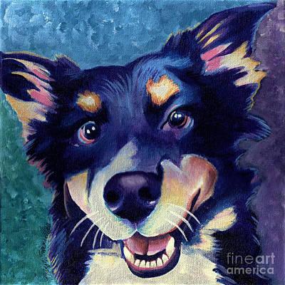 Australian Shepard Dog Portrait Print by Robyn Saunders