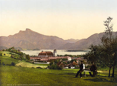 Rooftops Painting - Austria Mondsee, C1895 by Granger