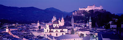 Rooftop Photograph - Austria, Salzburg, Panoramic View by Panoramic Images