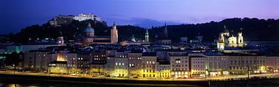 Storefront Photograph - Austria, Salzburg, Salzach River by Panoramic Images