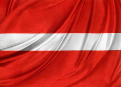 Waving Flag Photograph - Austrian Flag  by Les Cunliffe