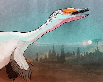 Austroraptor Dinosaur Print by Nemo Ramjet