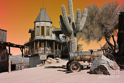 Authentic Ghost Town Print by Beverly Guilliams