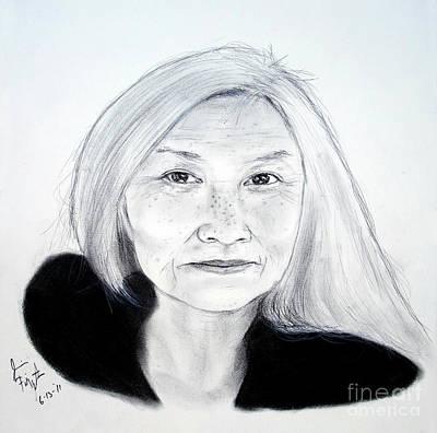 Author And Activist Maxine Hong Kingston Print by Jim Fitzpatrick