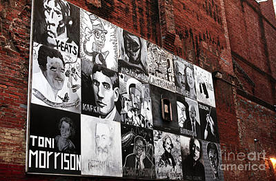 Authors In Boston Print by John Rizzuto