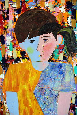 Autism Painting - Autism - Child And Mother by Carmencita Balagtas