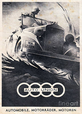 Auto Union Print by Oleg Konin