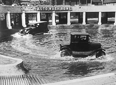 Conditions Photograph - Auto Wash Bowl by Underwood Archives