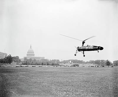 Us Postal Service Photograph - Autogyro Mail Shuttle by Library Of Congress