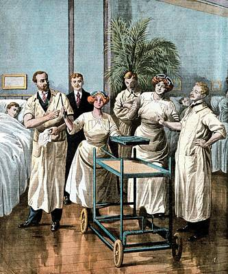 Automaton Nurses Print by Universal History Archive/uig