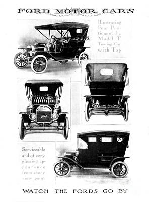 Antique Automobiles Drawing - Automobile Advertisement by Granger