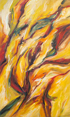 Painting - Autumn Abstract by John and Lisa Strazza