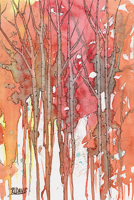 Decorative Painting - Autumn Abstract No.1 by Rebecca Davis