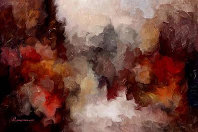 Red Abstract Mixed Media - Autumn Abstract by Georgiana Romanovna