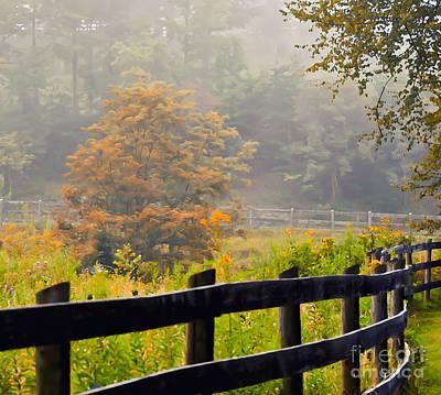 Autumn Leaf Photograph - Autumn Along The Fence by Kerri Farley