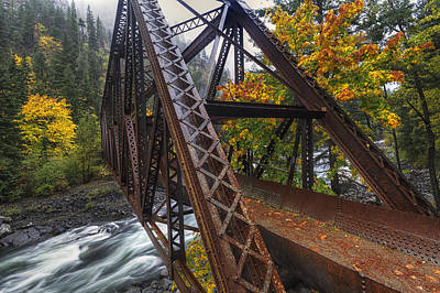 Unspoiled Art Photograph - Autumn And Iron by Mark Kiver