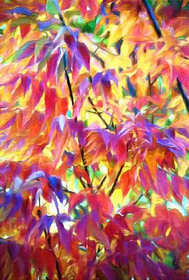 Autumn Ash Tree 1 - Fall Paint Print by Steve Ohlsen