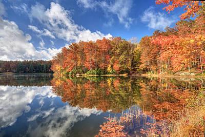 Autumn At Boley Lake Print by Jaki Miller