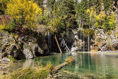 Autumn At Hanging Lake Waterfall - Glenwood Canyon Colorado Print by Brian Harig