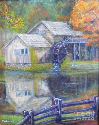 Mabry Painting - Autumn At Mabry Mill by Mike McCaughin