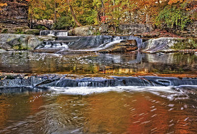 Stones Photograph - Autumn At Olmsted Falls by Marcia Colelli