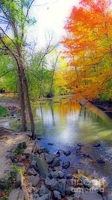Autumn At Petrifying Springs Print by Kay Novy