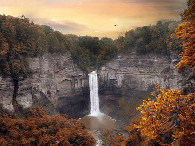 Autumn At Taughannock Print by Jessica Jenney