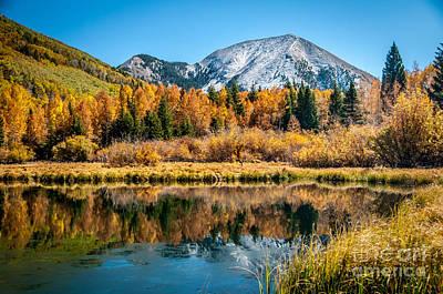 Autumn At Warner Lake Print by Bob and Nancy Kendrick